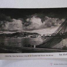 Postales: POSTAL DE CEUTA - UNA HERMOSA VISTA DE LA CIUDAD DEL NORTE DE AFRICA - FOTO RUBIO - CIRCULADA 1960. Lote 47992874