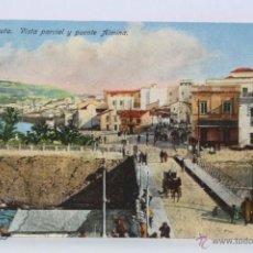 Postales: ANTIGUA POSTAL EN COLOR - 9. CEUTA. VISTA PARCIAL Y PUENTE ALMINA - SIN CIRCULAR. Lote 49240014