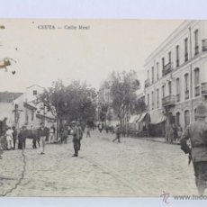 Postales: ANTIGUA POSTAL ANIMADA - CEUTA. CALLE REAL - CIRCULADA, AÑO 1905. Lote 49240461