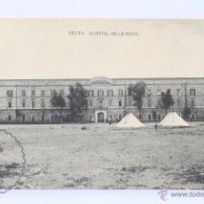 Postales: ANTIGUA POSTAL - CEUTA. CUARTEL DE LA REINA - HAUSER Y MENET - SIN CIRCULAR. Lote 49244452