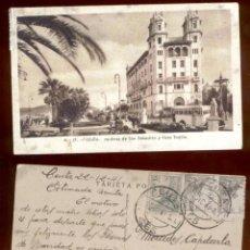 Postales: CEUTA* JARDINES DE SAN SEBASTIAN Y CASA TRUJILLO. CIRCULADA 1941.. Lote 49278366