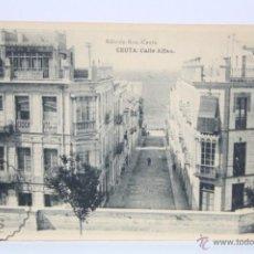Postales: ANTIGUA POSTAL - CEUTA. CALLE ALFAU - HAUSER Y MENET - SIN CIRCULAR. Lote 49279330