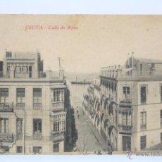 Postales: ANTIGUA POSTAL - CEUTA. CALLE DE ALFAU - SIN CIRCULAR. Lote 49279713