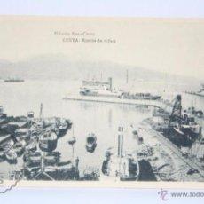 Postales: ANTIGUA POSTAL - CEUTA. MUELLE DE ALFAU - HAUSER Y MENET - SIN CIRCULAR - BARCOS. Lote 49282894