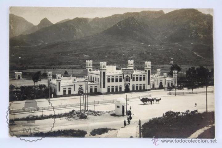 POSTAL FOTOGRÁFICA - CEUTA. ESTACIÓN DEL FERROCARRIL - SIN CIRCULAR - TREN (Postales - España - Ceuta Moderna (desde 1940))