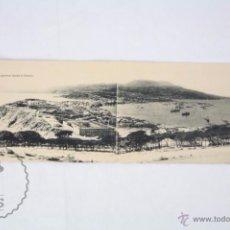 Postales: POSTAL DOBLE PANORÁMICA - CEUTA. VISTA GENERAL DESDE EL HACHO - HAUSER Y MENET - SIN CIRCULAR. Lote 49300922