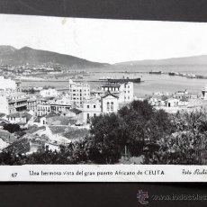 Postales: POSTAL DE CEUTA / UNA HERMOSA VISTA DEL GRAN PUERTO AFRICANO DE CEUTA - FOT. RUBIO 1958. Lote 49624237