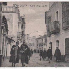 Postales: POSTAL DE CEUTA CALLE ALFONSO XII. MANUEL BARREIRO EDITOR SEVILLA. Lote 50131814