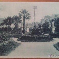 Postales: POSTAL ANTIGUA DE LOS JARDINES DE LA PLAZA DE SAN SEBASTIAN -CEUTA. Lote 50719291