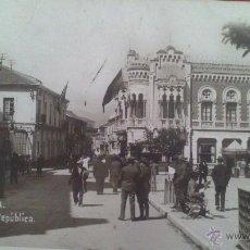 Postales: POSTAL FOTOGRAFICA DE CEUTA, RAPIDE Nº 10, PLAZA DE LA REPUBLICA. Lote 51361786