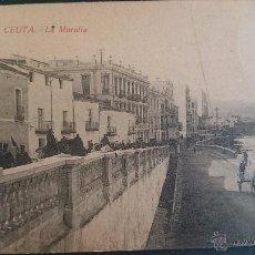 Postales: POSTAL CEUTA, LA MURALLA. Lote 51361971