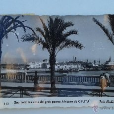 Postales: BONITA POSTAL PUERTO DE CEUTA, ESCRITA. Lote 52635616