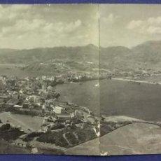 Postales: VISTA GENERAL DE CEUTA. PANORAMICA. ROS, FOTÓGRAFO. EN DOS PIEZAS, PEGADAS. . Lote 53427846