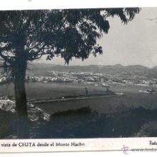Postales: CEUTA. Nº 14. UNA VISTA DE CEUTA DESDE EL MONTE HACHO. FOTO RUBIO. Lote 54159472