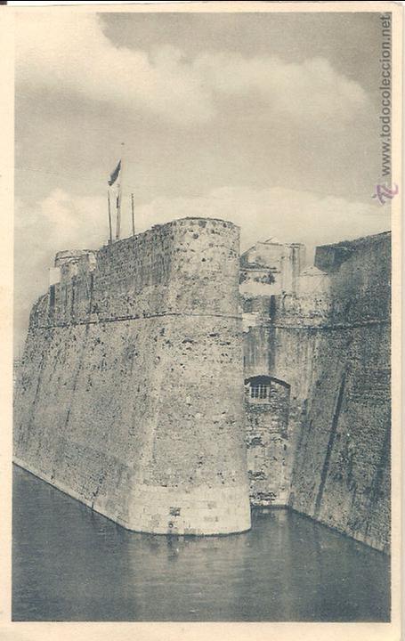 CEUTA, DETALLE DE LA MURALLA REAL - FOTOTIPIA HAUSER Y MENET Nº 13 - SIN CIRCULAR (Postales - España - Ceuta Antigua (hasta 1939))