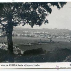Postales: CEUTA Nº 14. UNA VISTA DE CEUTA DESDE EL MONTE HACHO. FOTO RUBIO, NUEVA, SIN CIRCULAR. Lote 54320854