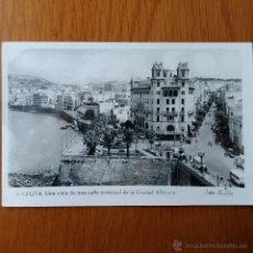 Postales: POSTAL CEUTA CALLE PRINCIPAL DE LA CIUDAD. FOTO RUBIO. ESCRITO FECHADA EN 1961. Lote 54386274