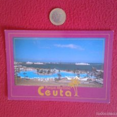 Postales: BONITA POSTAL POSTCARD CEUTA VISTA GENERAL DEL PARQUE MARITIMO DEL MEDITERRANEO IDEAL COLECCION . Lote 56123219