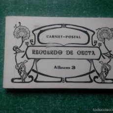 Postales: CARNET-POSTAL ' RECUERDO DE CEUTA ' - AYUNTAMIENTO DE CEUTA 1991 ( CR-NV ). Lote 56164019