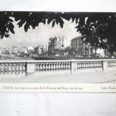 Postales: 46.CEUTA.UNA HERMOSAVISTA DE LA CIUDAD DEL NORTE DE AFRICA.FOTO RUBIO CIRCULADA POSTAL SIN DIVIDIR. Lote 56374473