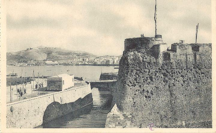 CEUTA, VISTA PARCIAL Y FOSO DE LA MURALLA REAL - FOTOTIPIA HAUSER Y MENET Nº 3 - SIN CIRCULAR (Postales - España - Ceuta Antigua (hasta 1939))