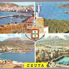 Postales: CEUTA BELLEZAS DE LA CIUDAD. Lote 57661866