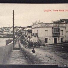 Postales: POSTAL. VISTA DESDE LA MURALLA. CEUTA.. Lote 59448135