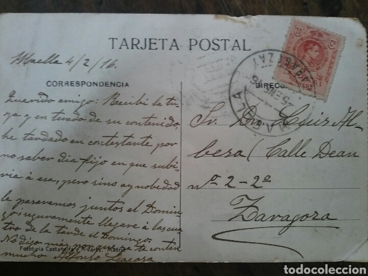 Postales: Postal de Ceuta. Jardín de San Sebastián y Gibraltar enfrente. 1916 - Foto 2 - 62674551