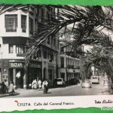 Postales: CEUTA - CALLE DEL GENERAL FRANCO - FOTO RUBIO - AÑOS 50/60. Lote 66788662