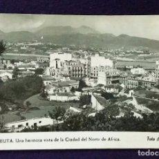 Postales: POSTAL DE CEUTA. N°12 UNA HERMOSA VISTA DE LA CIUDAD DE NORTE DE AFRICA. AÑOS 50.. Lote 68401169