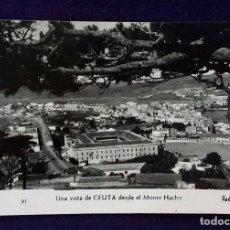 Postales: POSTAL DE CEUTA. N°91 UNA VISTA DE CEUTA DESDE EL MONTE HACHO. AÑOS 50.. Lote 68401549
