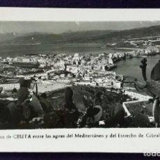 Postales: POSTAL DE CEUTA. N°26 EL ISTMO DE CEUTA ENTRE LAS AGUAS DEL MEDITERRANEO Y DEL ESTRECHO. AÑOS 50.. Lote 68401849
