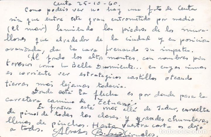 Postales: CEUTA UNA HERMOSA VISTA DEL GRAN PUERTO AFRICANO DE CEUTA POSTAL 139 DE FOTO RUBIO. VER REVERSO. - Foto 2 - 68767341