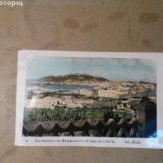 Cartes Postales: FOTO POSTAL DE CEUTA , EN BLANCO Y NEGRO COLOREADA. Lote 72362217