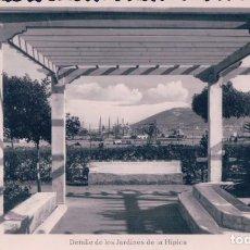 Postales: POSTAL FOTOGRÁFICA DE CEUTA 3 DETALLE DE LOS JARDINES DE LA HÍPICA. . Lote 73387803