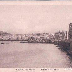 Postales: POSTAL. LA MARINA, CEUTA. AVENUE DE LA MARINE.. Lote 76745555