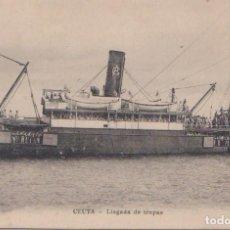 Postales: CEUTA - LLEGADA DE TROPAS. Lote 76815639