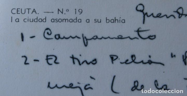 Postales: ANTIGUAS POSTALES CEUTA: PANORAMICA DESDE CAMPO PICHON PUNTA BERMEJA CIUDAD BAHIA – AÑOS 60 - Foto 4 - 79566829