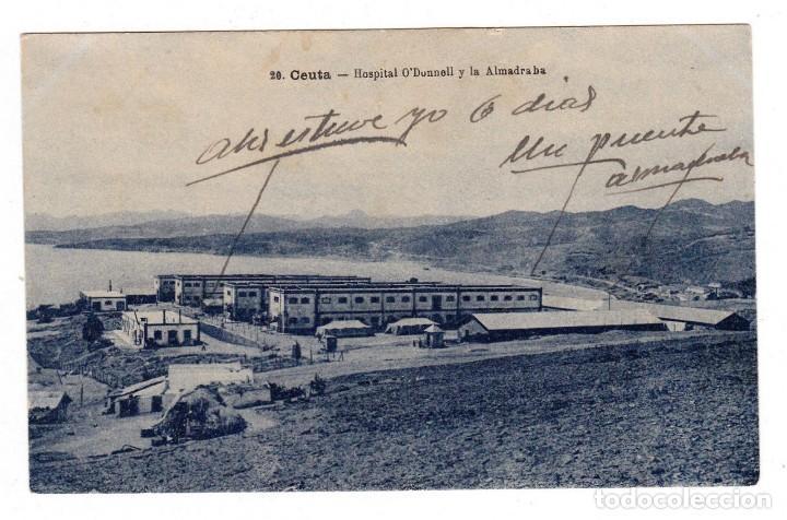 CEUTA HOSPITAL O´DONNELL Y LA ALMADRABA (Postales - España - Ceuta Moderna (desde 1940))