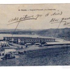 Postales: CEUTA HOSPITAL O´DONNELL Y LA ALMADRABA. Lote 80237013