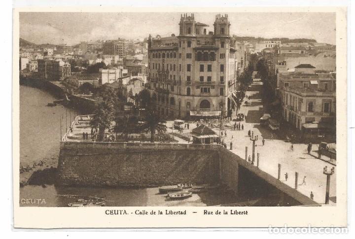 CEUTA .- CALLE LIBERTAD (Postales - España - Ceuta Antigua (hasta 1939))