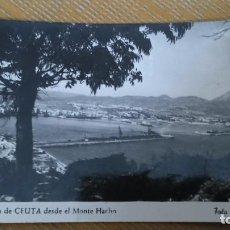 Postales: POSTAL FOTO RUBIO UNA VISTA DE CEUTA DESDE EL MONTE HACHO. Lote 80615722