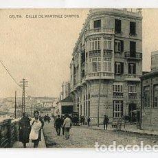 Postales: CEUTA CALLE MARTINEZ CAMPOS. FOTOTIPIA HAUSER Y MENET. ESCRITA. Lote 84636048