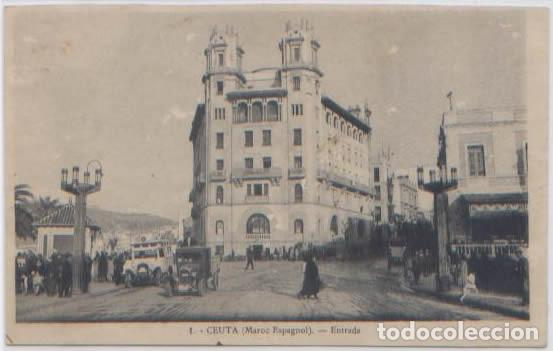 POSTAL CEUTA ENTRADA N° 1 COCHES ANTIGUOS MARRUECOS (Postales - España - Ceuta Antigua (hasta 1939))