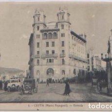 Postales: POSTAL CEUTA ENTRADA N° 1 COCHES ANTIGUOS MARRUECOS. Lote 84932876