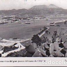 Postales: POSTAL CEUTA UNA HERMOSA VISTA DEL GRAN PUERTO DEL NORTE DE AFRICA . Lote 91835330