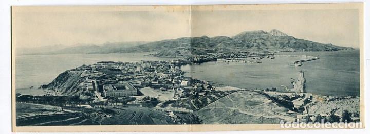 CEUTA VISTA GENERAL. POSTAL DOBLE. FOTOTIPIA HAUSER Y MENET, SIN CIRCULAR (Postales - España - Ceuta Antigua (hasta 1939))