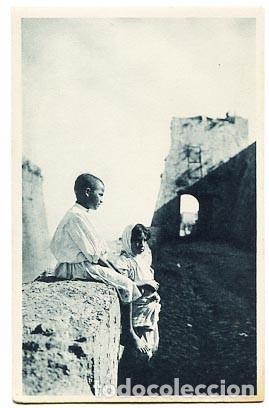 CEUTA MORITOS DEL ANGULO. FOTOTIPIA HAUSER Y MENET. SIN CIRCULAR (Postales - España - Ceuta Antigua (hasta 1939))