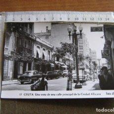 Cartes Postales: CEUTA - UNA VISTA DE UNA CALLE PRINCIPAL DE LA CIUDAD AFRICANA - FOTO RUBIO. Lote 92044115