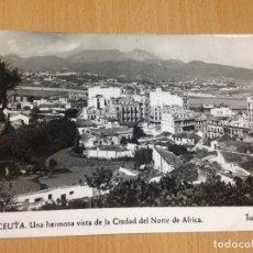 Postales: ANTIGUA POSTAL CEUTA FOTO RUBIO. Lote 92973745